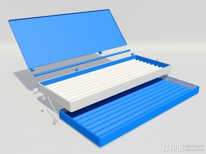 3D打印 铅笔套 铅笔盒 尺子 3D模型  图4
