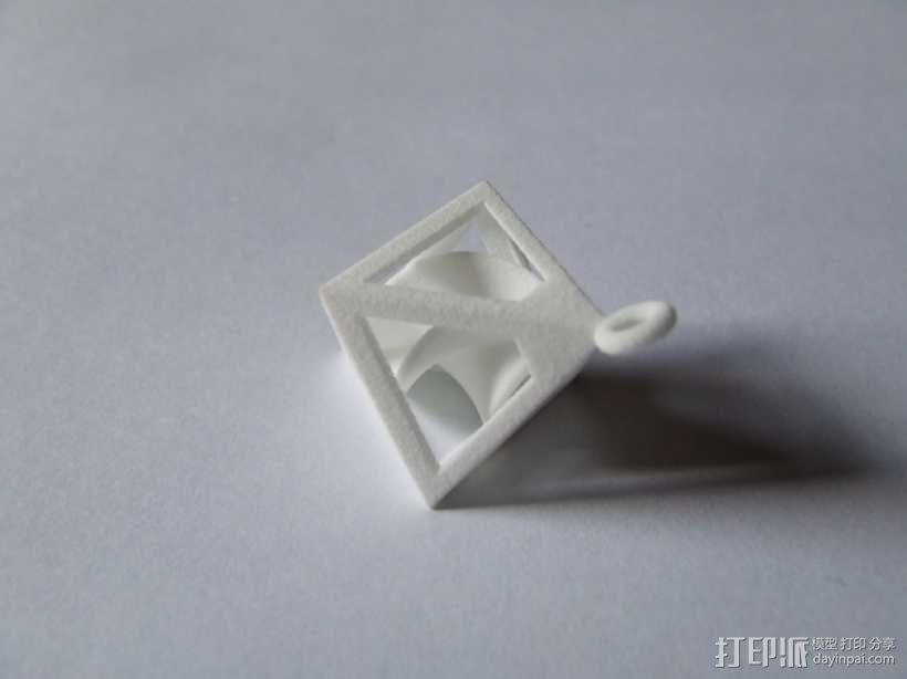 螺旋形吊坠 3D模型  图2