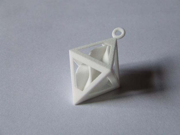 螺旋形吊坠 3D模型  图1