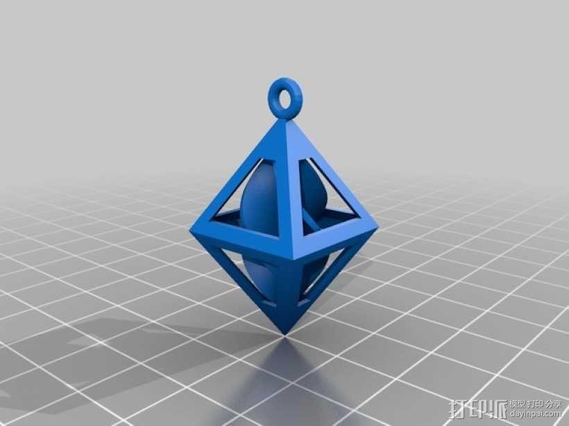 螺旋形吊坠 3D模型  图3