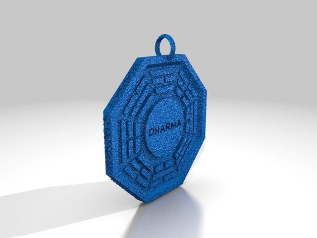 Dharma达摩计划 吊坠 3D模型  图1