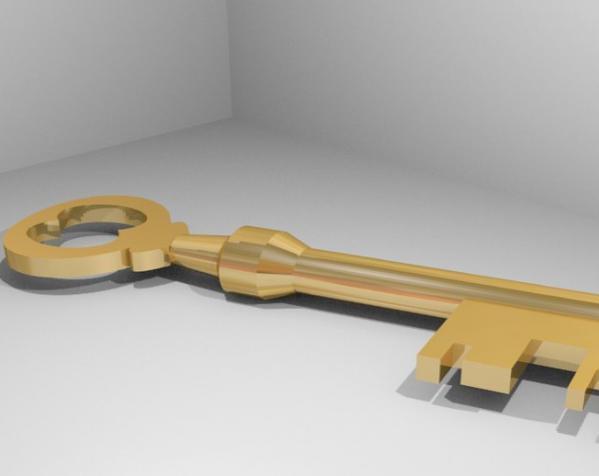 Mann Co. 钥匙 3D模型  图1