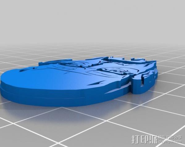 Walter White头像吊坠 3D模型  图3