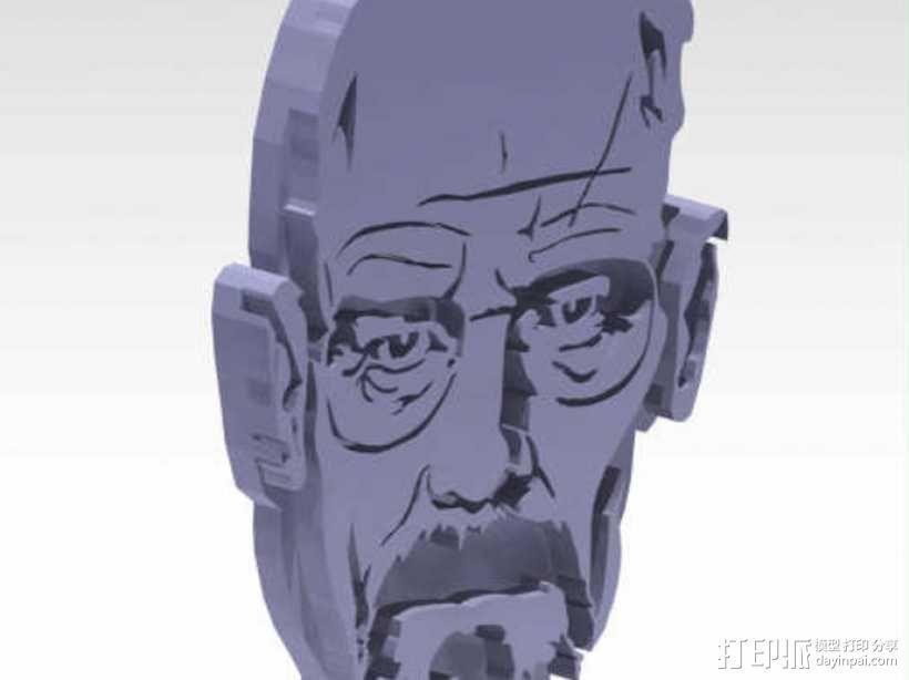 Walter White头像吊坠 3D模型  图1