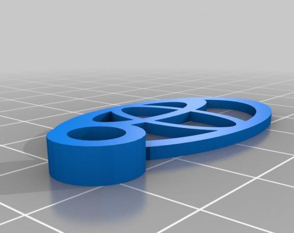 Toyota丰田汽车钥匙坠 3D模型  图1