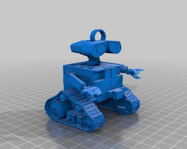 Wall-E机器人钥匙坠 3D模型  图1