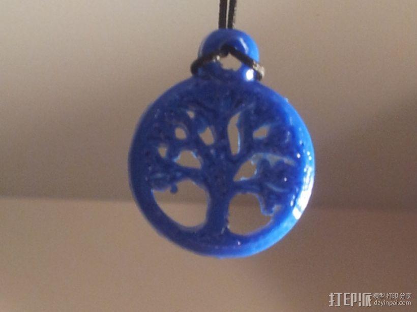 凯尔特生命之树 吊坠 3D模型  图1