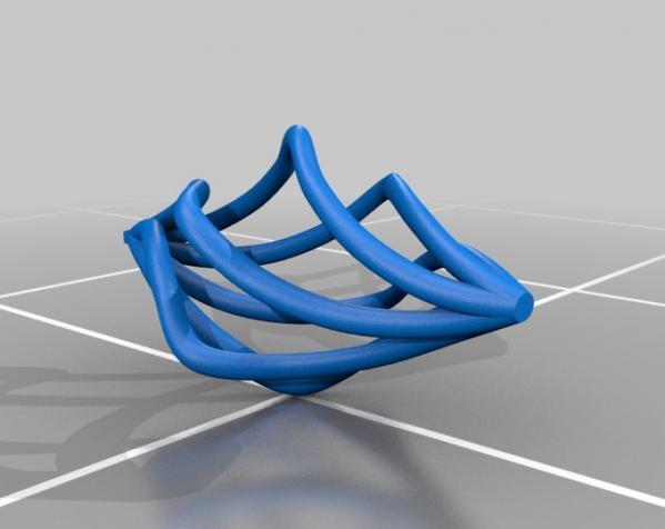 镂空螺旋耳环 3D模型  图2