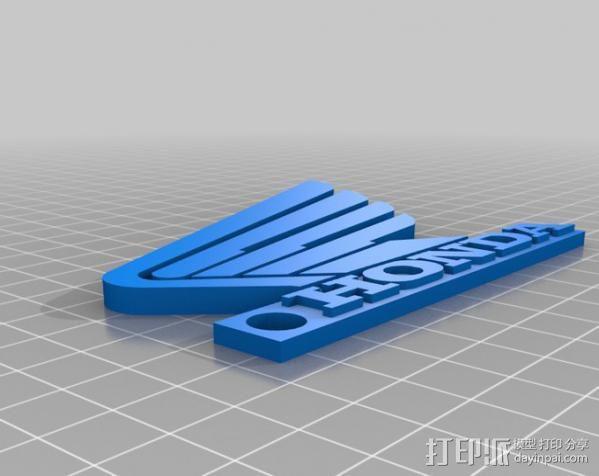 Honda机动车钥匙坠 3D模型  图1