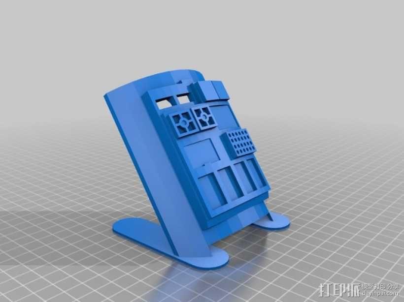 飞行员通信板 3D模型  图2