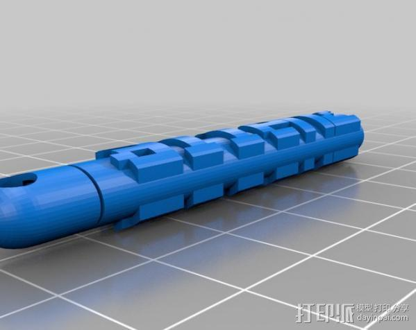 8Bit图素钥匙坠 3D模型  图1