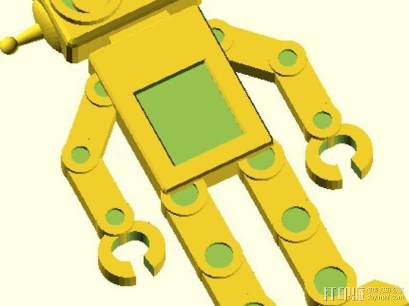 机器人吊坠 3D模型  图1