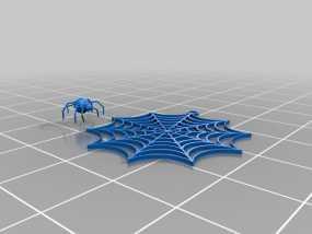 蜘蛛网 耳坠 3D模型