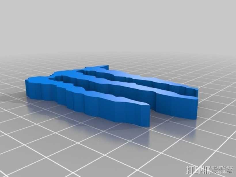 怪物能量 标志 3D模型  图1