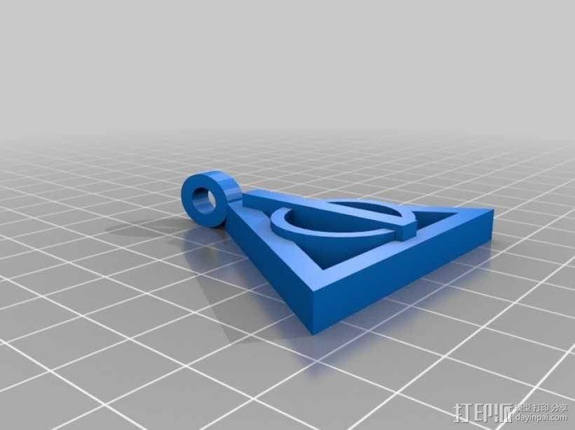 哈利波特项链 3D模型  图1