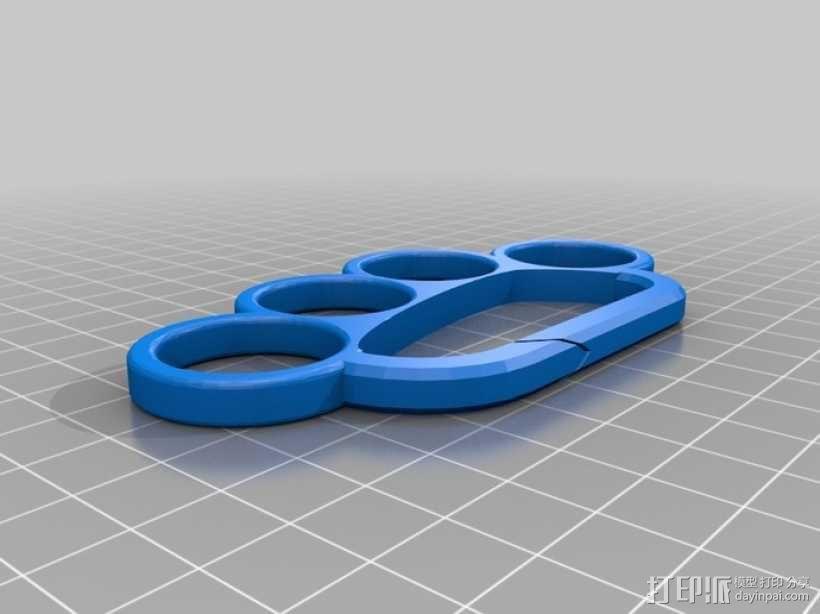 手指套环 钥匙圈 3D模型  图3