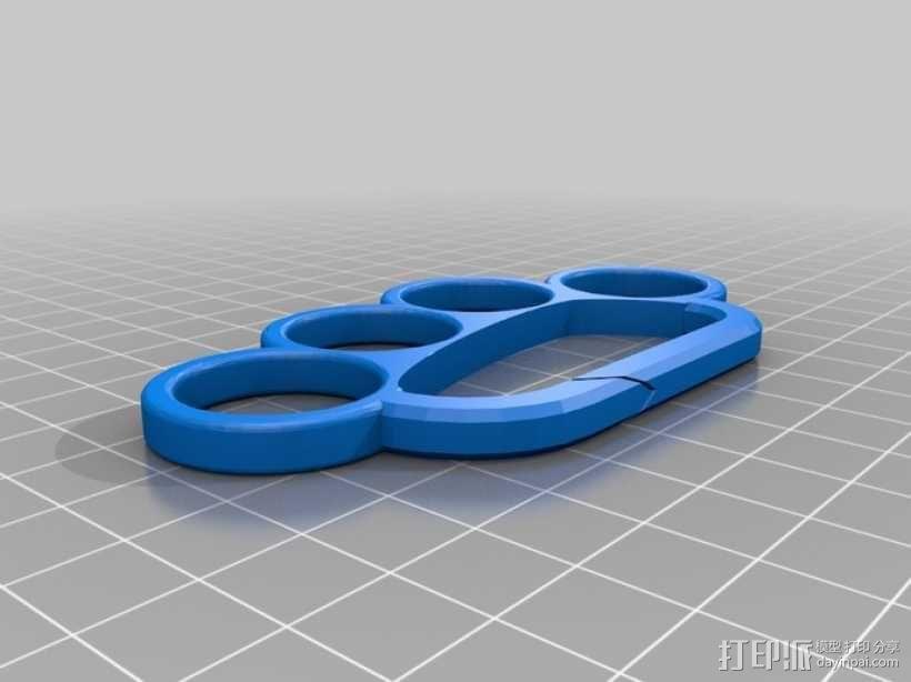 手指套环 钥匙圈 3D模型  图1