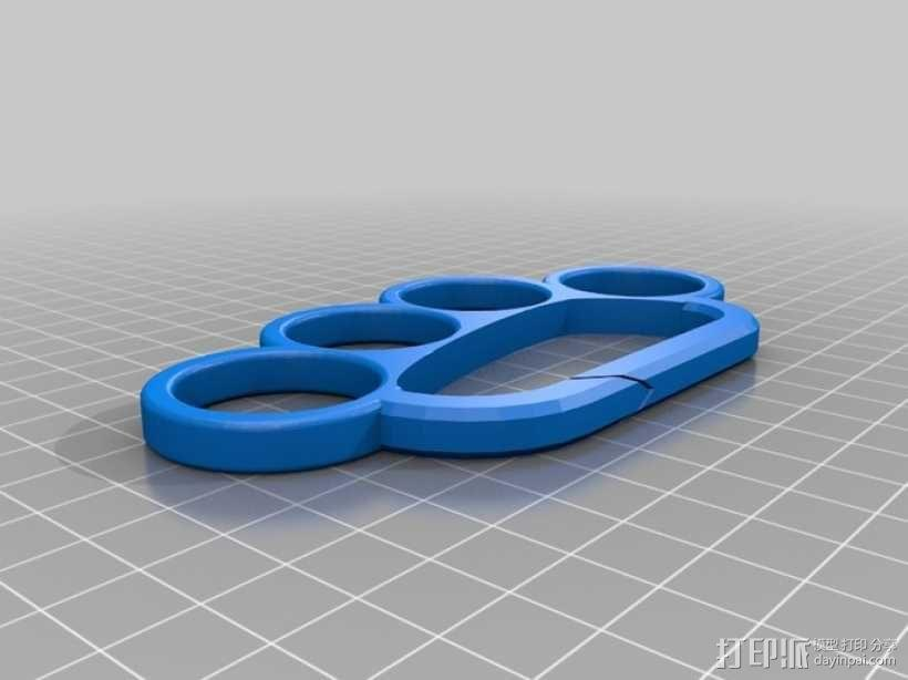 手指套环 钥匙圈 3D模型  图4