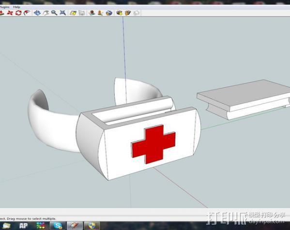 救生手镯 3D模型  图1