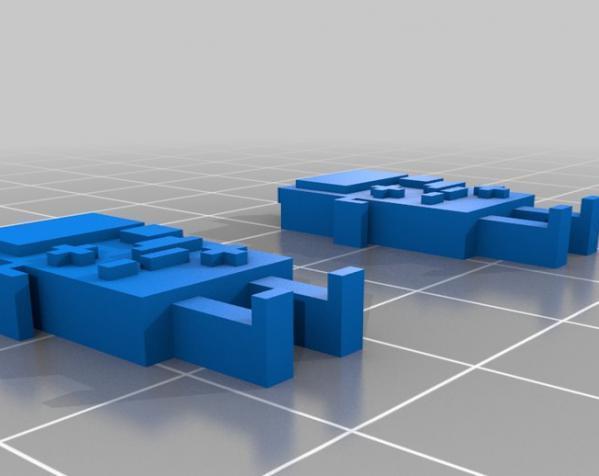 BMO公仔 耳坠 3D模型  图2