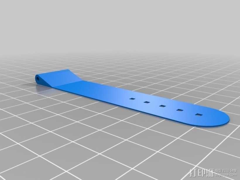 弹性表带 3D模型  图2