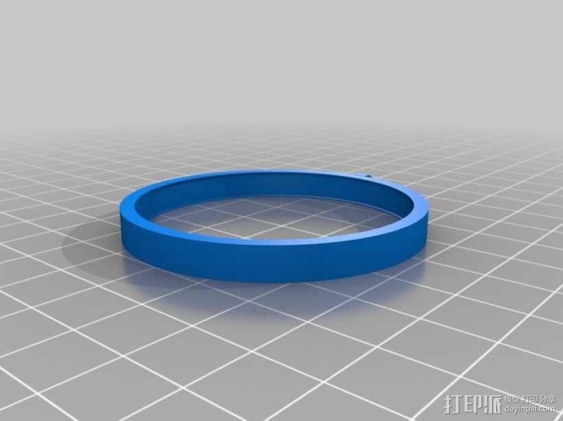 阴阳太极图项链 3D模型  图5