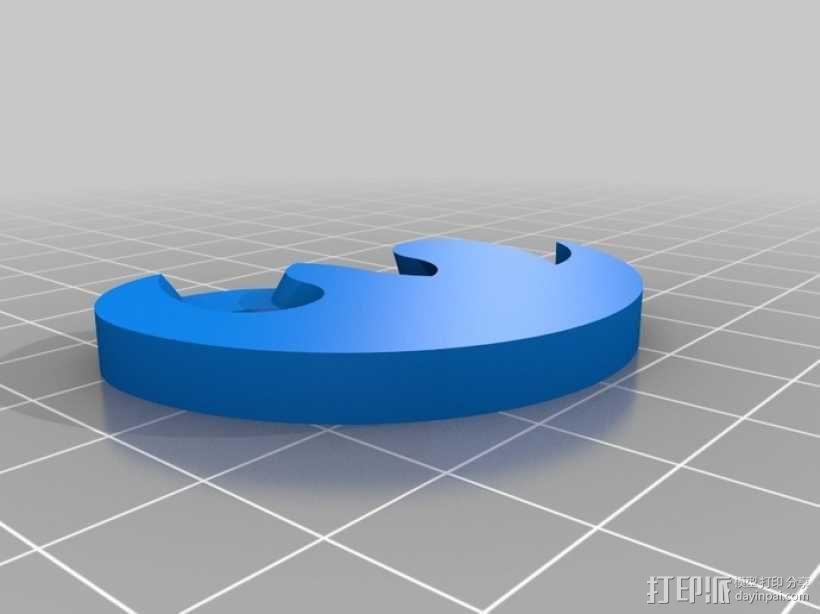 阴阳太极图项链 3D模型  图6