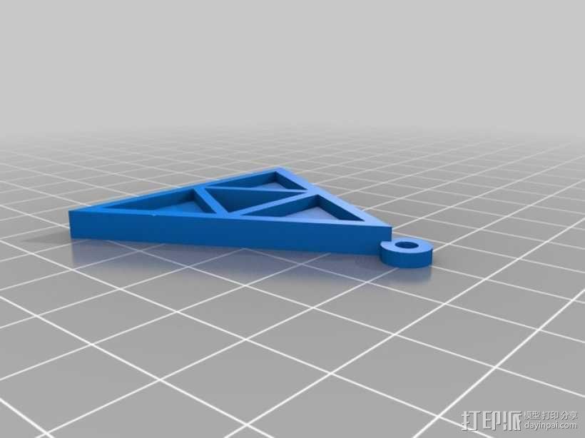 三角吊坠 3D模型  图1
