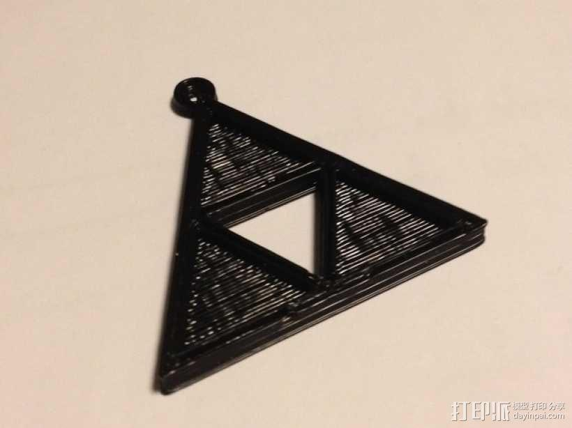 三角吊坠 3D模型  图2