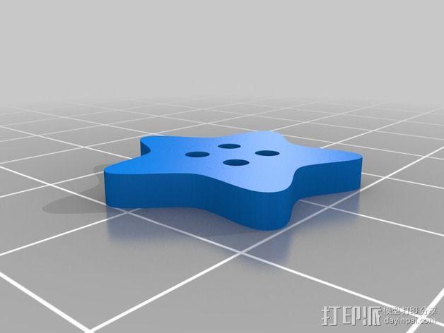 星星纽扣 3D模型  图3