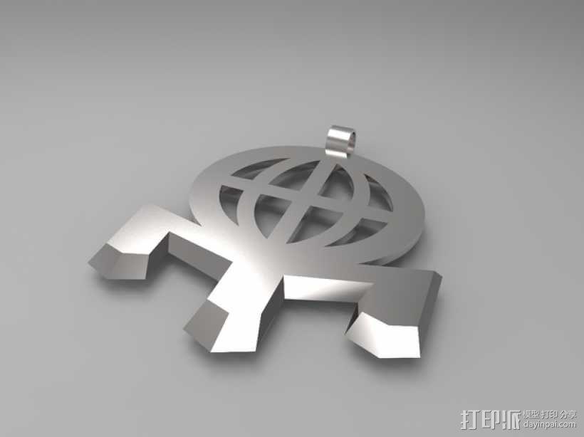 门萨 标志 3D模型  图4