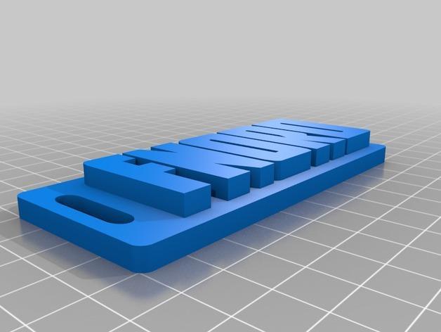 Fnord项链坠 3D模型  图2