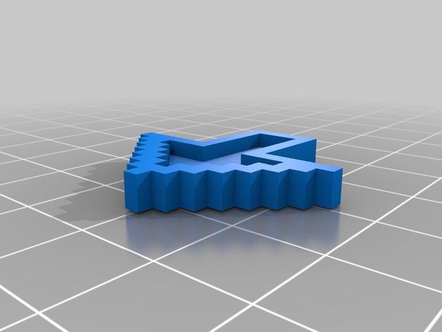 箭头 钥匙坠 3D模型  图1
