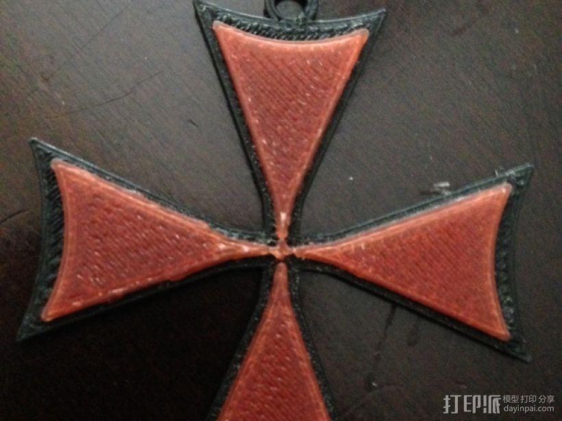 十字架 项链坠 3D模型  图1