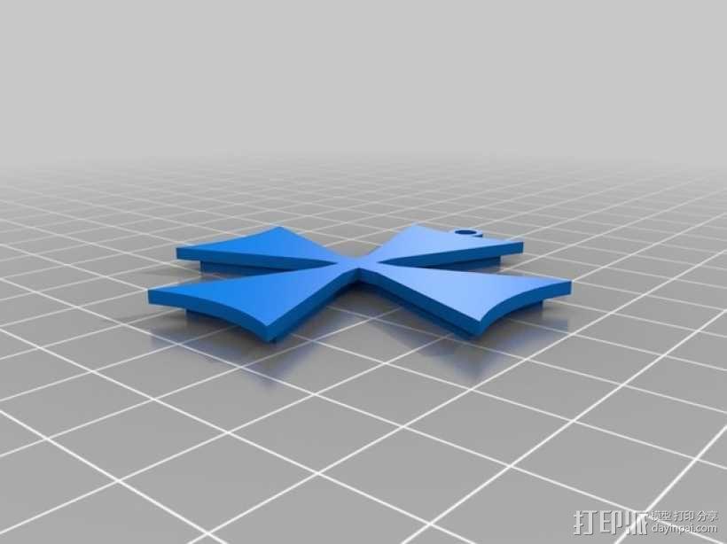 十字架 项链坠 3D模型  图2