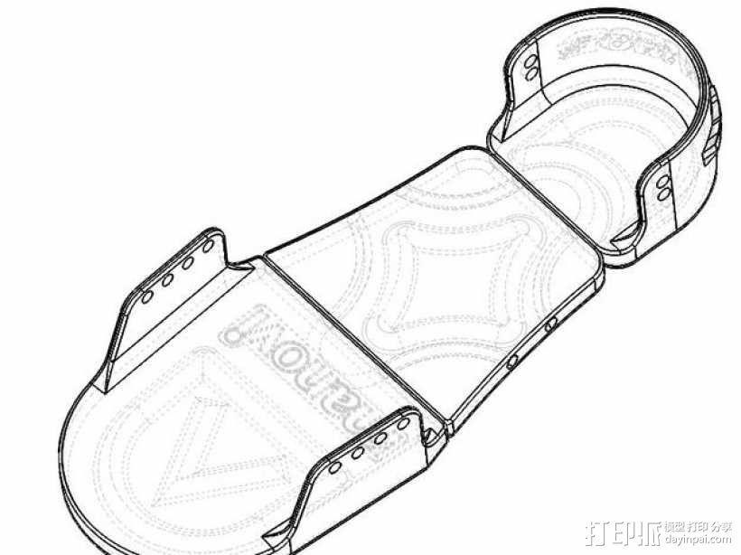 沙滩鞋 3D模型  图3