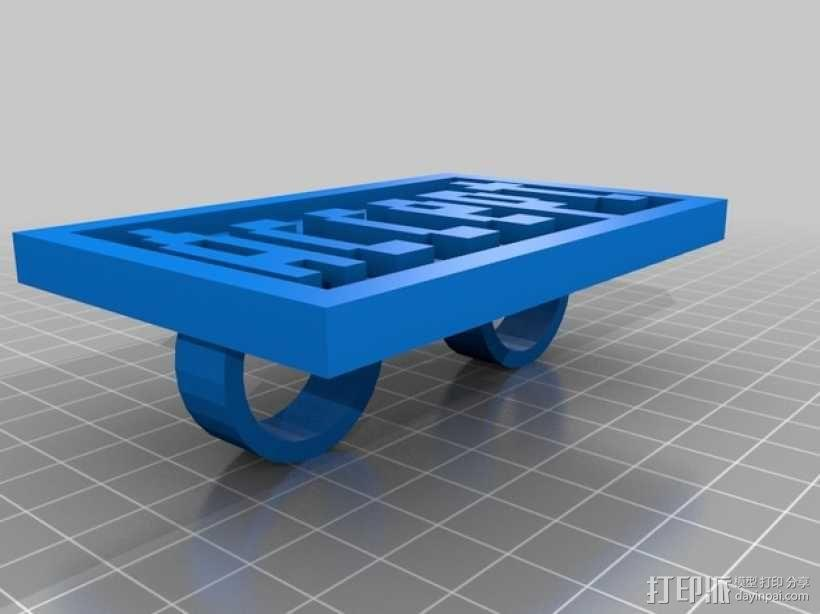 FRC/FTC 手指套环 3D模型  图1