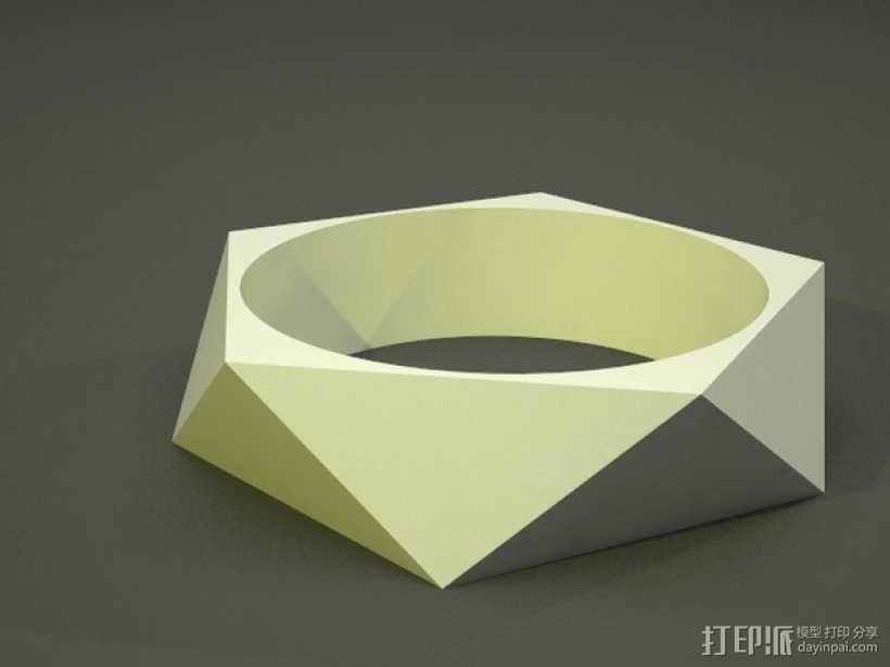 多边形几何手镯 3D模型  图1