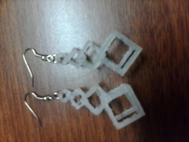连锁方块 耳坠  3D模型  图2