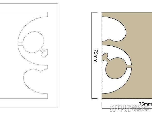 扎花工具 3D模型  图2