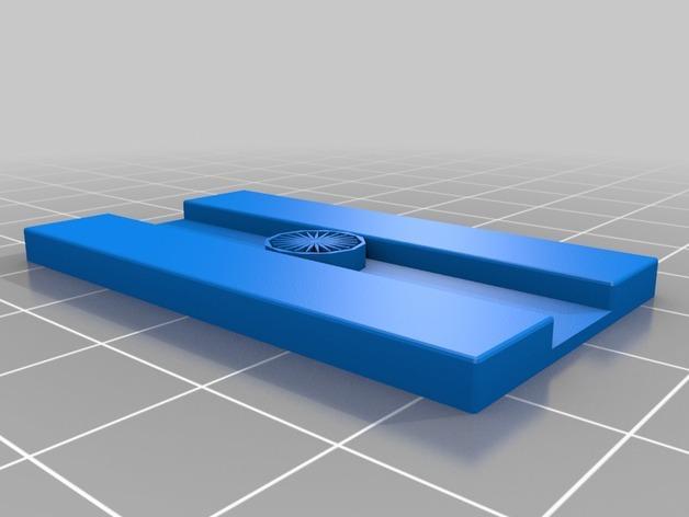 印度国旗 钥匙坠 3D模型  图4