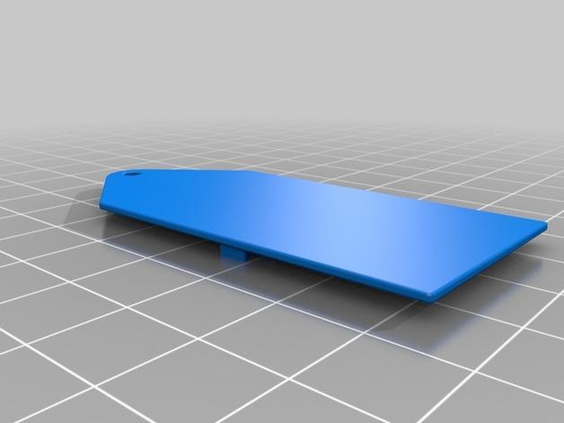印度国旗 钥匙坠 3D模型  图3