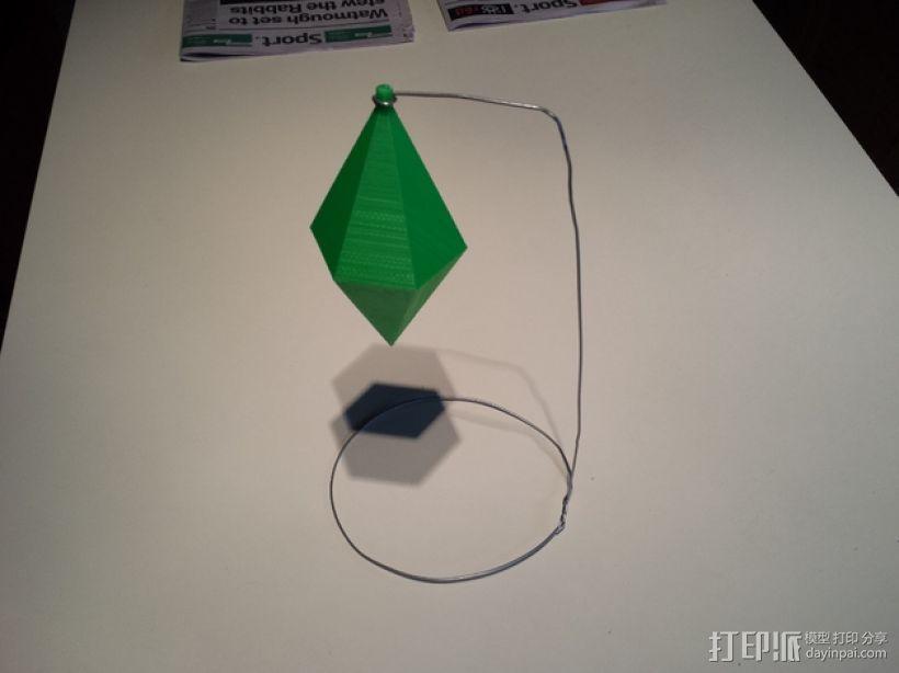 西姆斯铅锤 吊坠  3D模型  图2