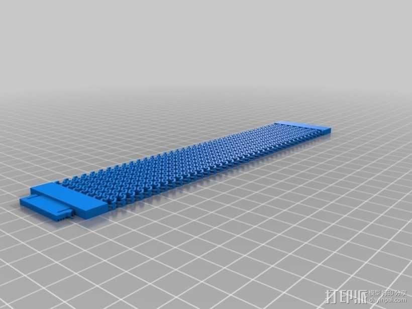 锁甲手链 3D模型  图1