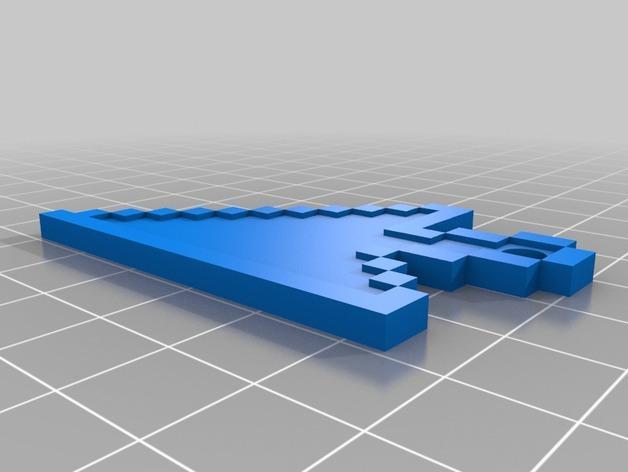 箭头指针 钥匙坠 3D模型  图2