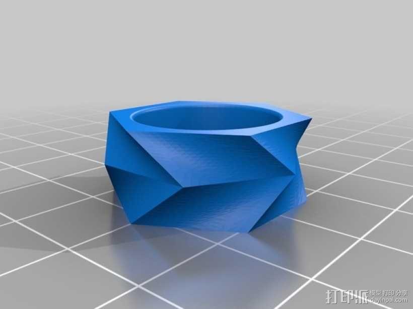 几何戒指 3D模型  图1