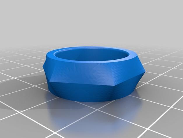 几何戒指 3D模型  图2