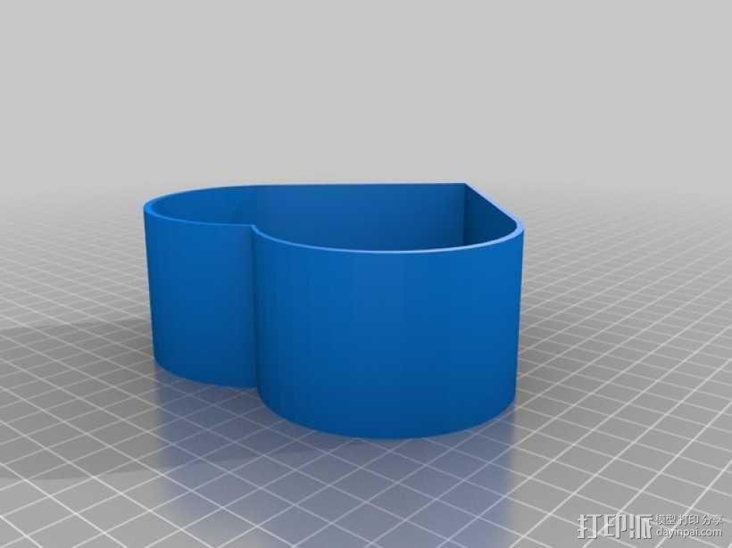 美人鱼心形珠宝盒 3D模型  图4