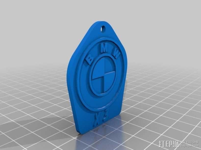 宝马汽车 钥匙坠  3D模型  图1