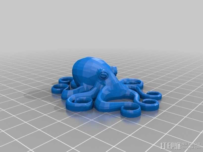 章鱼指环  3D模型  图1